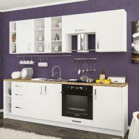 Кухня Гамма ДСП Белый 1 метр погонный