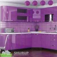 Кухня Гамма Глянец Фиолетовый 1 метр погонный